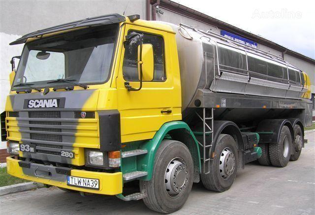 SCANIA 93M Cysterna Spożywcza transporte de leche