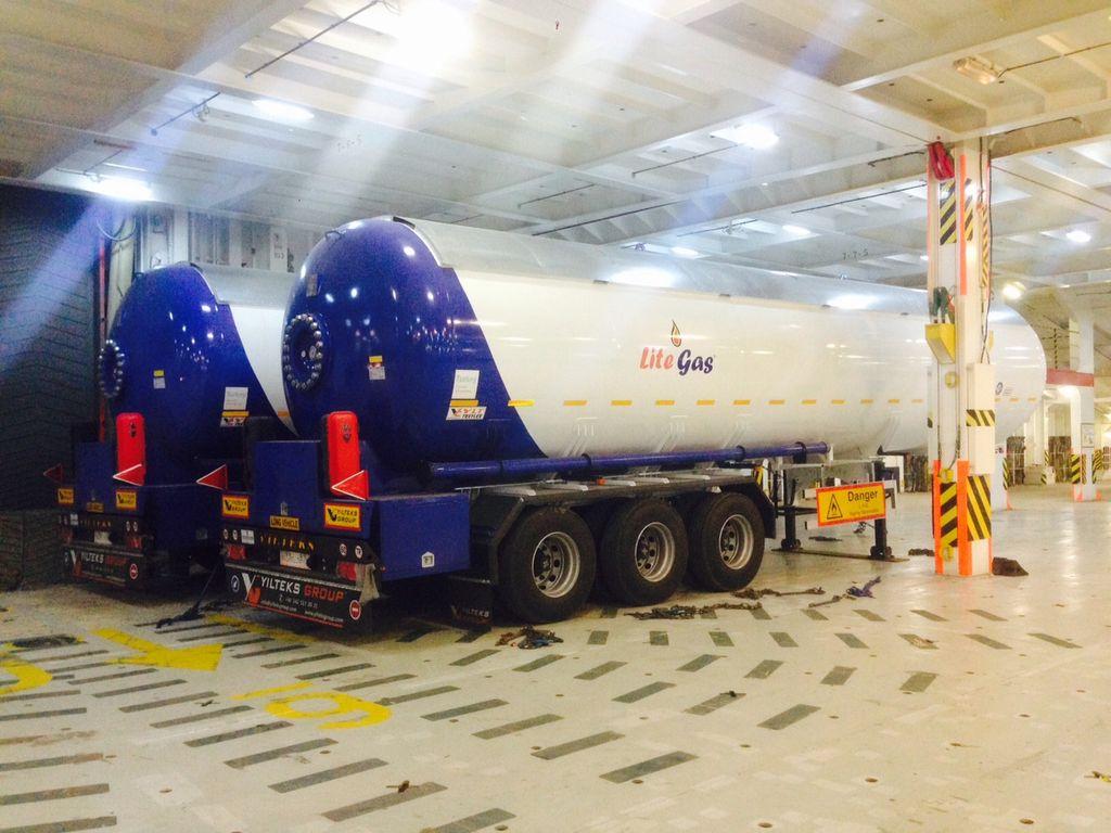 YILTEKS Semi Trailer LPG Tank 57m3 cisterna de gas nueva
