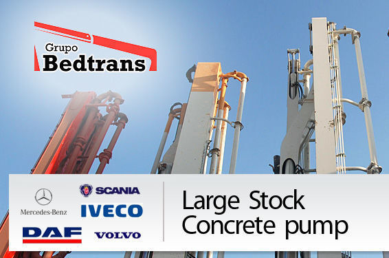 PUTZMEISTER THE BEST STOCK THE CONCRETE PUMPS IN SPAIN BEDTRANS bomba de hormigón