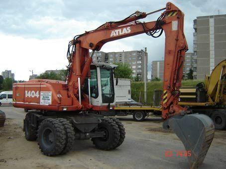 ATLAS 1404 excavadora de ruedas