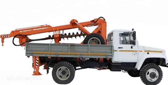 BKM ZU Burilno-kranovaya mashina BKM-3U na avtomobilyah GAZ 33081 («Sa otros maquinaria de construcción