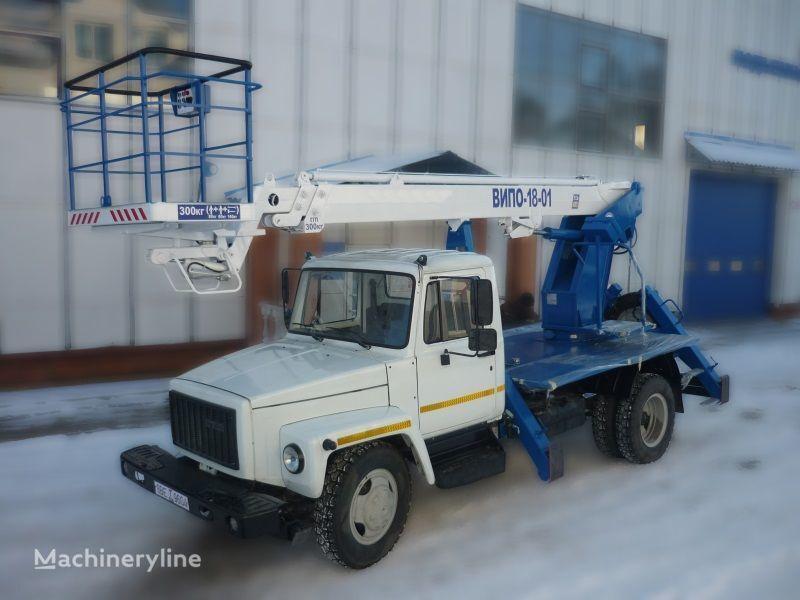 GAZ 3309 plataforma sobre camión