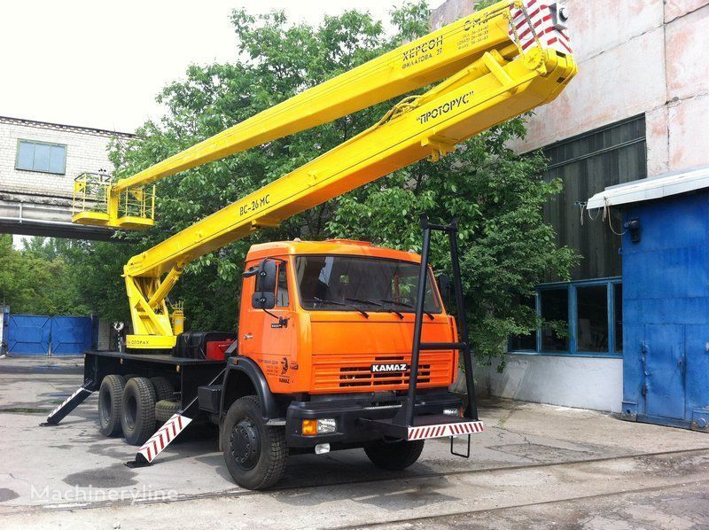 KAMAZ VS—26  plataforma sobre camión