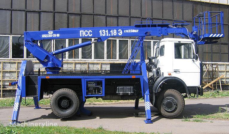 MAZ 5337A2 plataforma sobre camión
