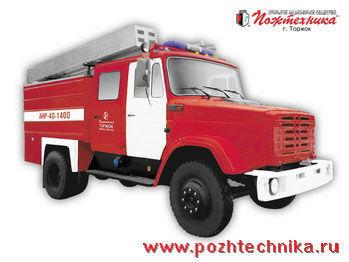 ZIL ANR-40-1400 Avtomobil nasosno-rukavnyy   camión de bomberos
