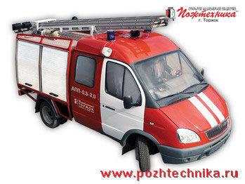 GAZ APP-0,5-2,0 Avtomobil pervoy pomoshchi     coche de bomberos del tanque