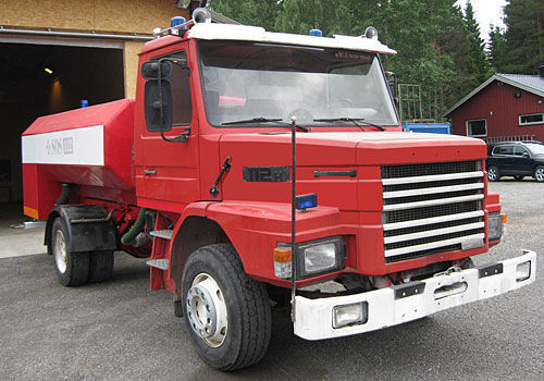 SCANIA T-112H coche de bomberos del tanque