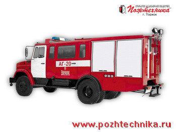 ZIL  AG-20 Avtomobil gazodymozashchitnoy sluzhby coche de bomberos del tanque