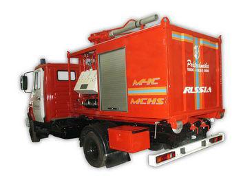ZIL PSK Pozharno-spasatelnyy kompleks s konteynerami tyazhelogo tipa coche de bomberos del tanque