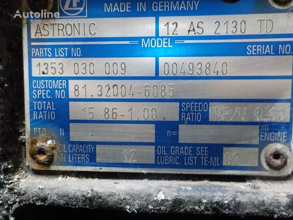 ZF 12AS2130TD caja de cambio para camión