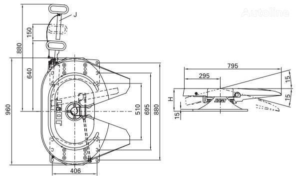 Jost 115 185mm quinta rueda para tractora