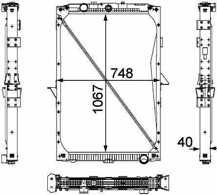 1674136. 1692332. 1739550 .1856628. 8MK376 733-7111861737. 1861737R radiador de refrigeración del motor para DAF XF95.105XF camión nuevo