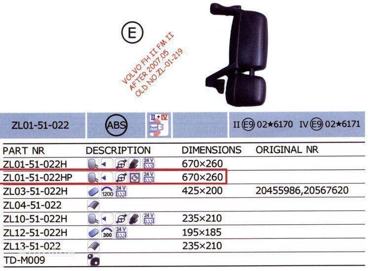 20567637,20567647 retrovisor para VOLVO FH camión nuevo