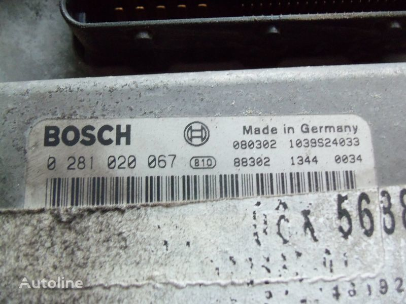 MAN EDC 480PS D2676LF05 ECU BOSH 0281020067 EURO4, 51258037564, 51258037778, 51258037832, 51258037990, 51258037674, 51258337008 unidad de control para MAN TGX tractora