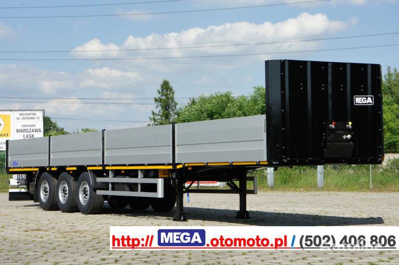 MEGA MNS 22,5 - PLATFORM & ALUSIDES 800 MM /  STRONG  FRAME DOMEX650 semirremolque caja abierta nuevo