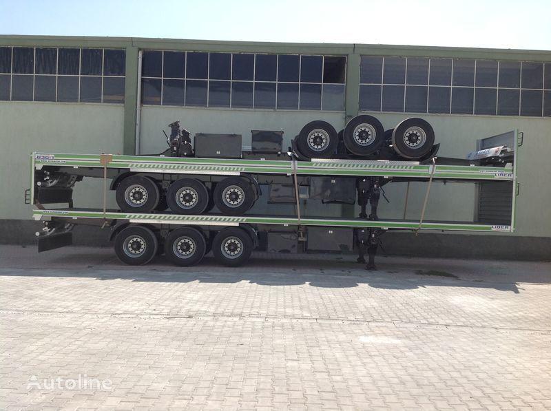 LIDER 2017 YEAR NEW 40' 20' 30' container transport trailer manufactur semirremolque de contenedores nuevo