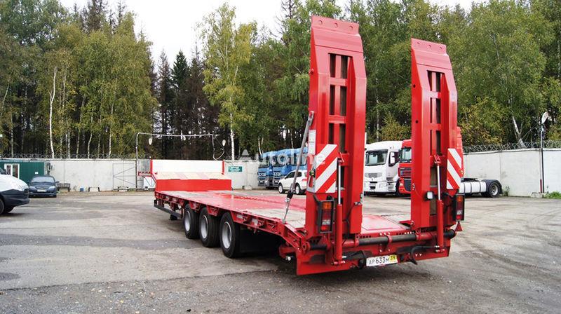 GRUNWALD Triaxial low bed semitrailer semirremolque góndola rebajada nuevo