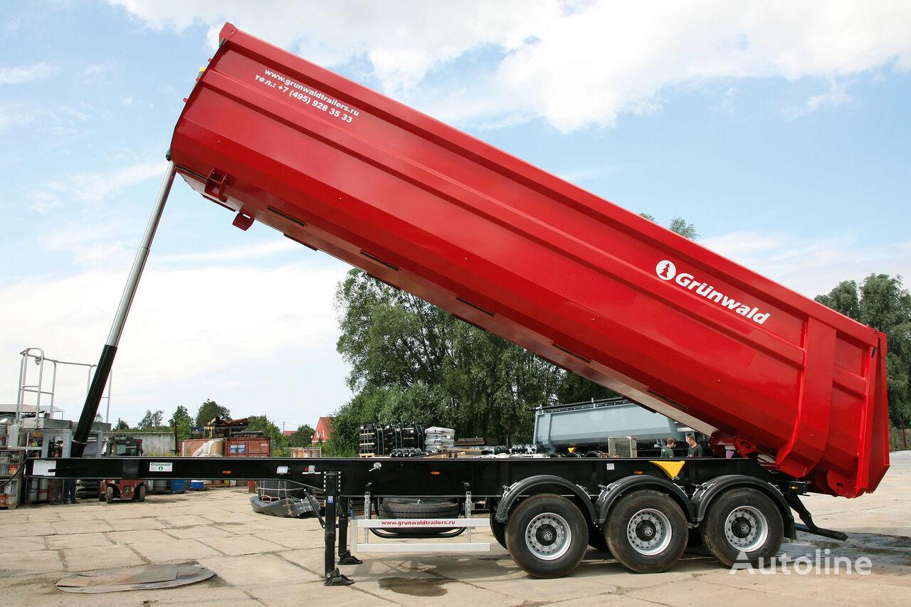 GRUNWALD Tipper semitrailer 50 cbm semirremolque volquete nuevo