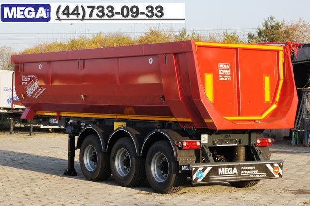 KARGOMIL 25 - 28 m³ HALF-PIPE / steel tipper - DOMEX 5/7 mm / SUPER STRON semirremolque volquete nuevo