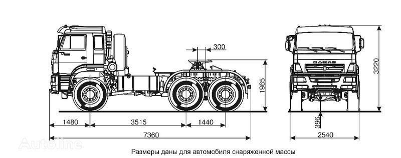 KAMAZ 65221  tractora