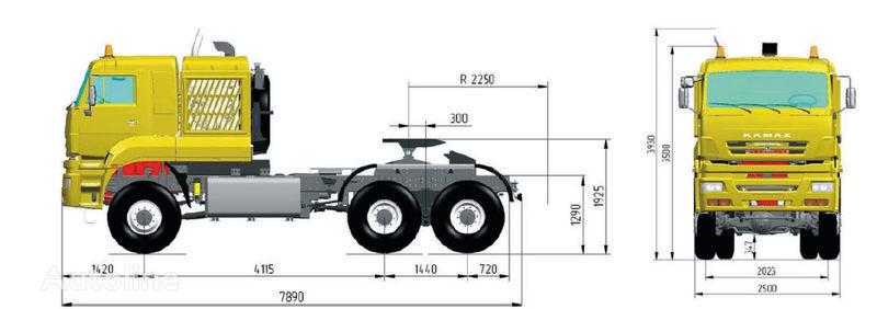 KAMAZ 65226 (6h6) tractora