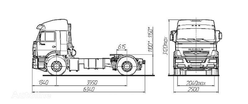 KAMAZ Sedelnyy tyagach KAMAZ-5460 tractora