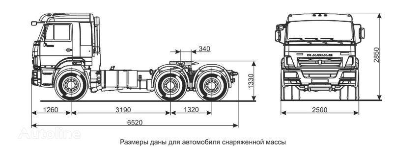 KAMAZ Sedelnyy tyagach KAMAZ-65116 (6h4) tractora
