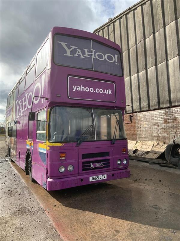 Leyland Olympian outdoor facilities bus autobús de dos pisos