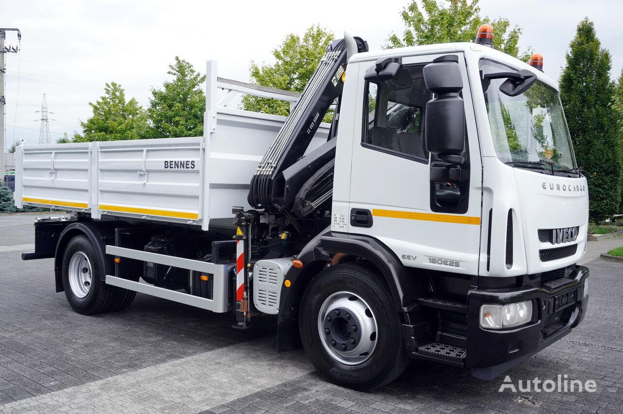 IVECO Eurocargo 160E25 , EEV , 4X2 , tipper + Crane , Remote Control  camión caja abierta
