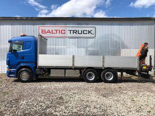 SCANIA R380, 6x2 PALFINGER CRANE camión caja abierta