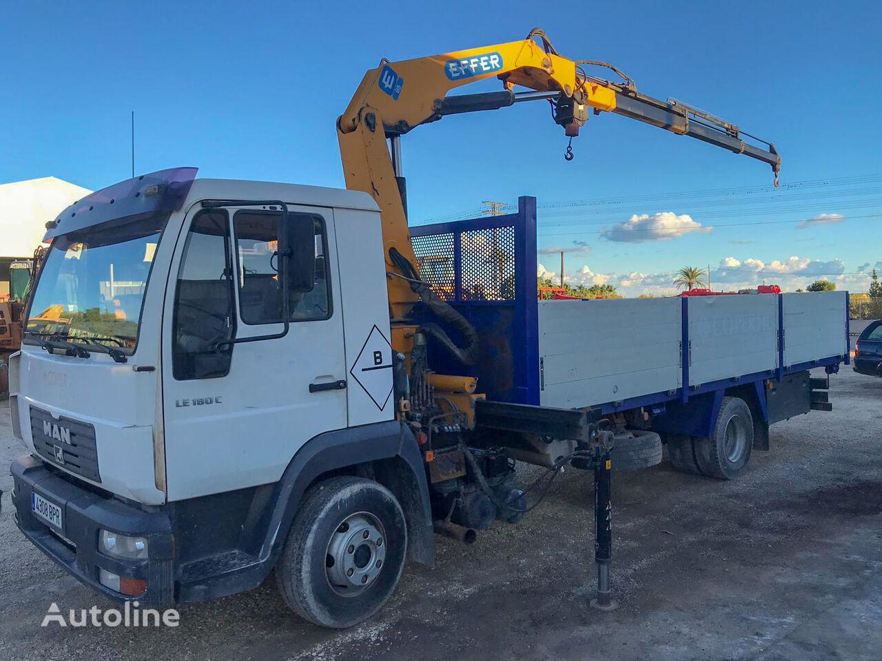 camión caja abierta MAN LE 180 C