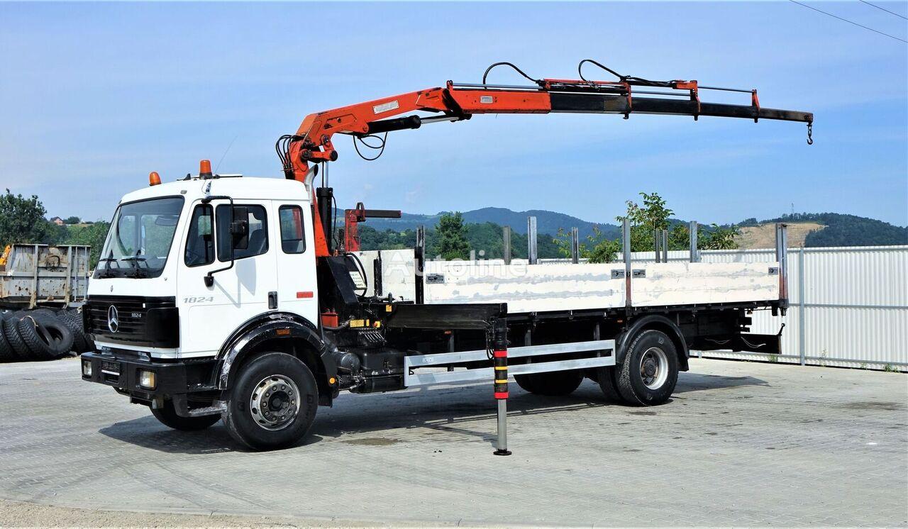 MERCEDES-BENZ 1824 Pritsche 7,10m+ Kran*4x2*Topzustand! camión caja abierta