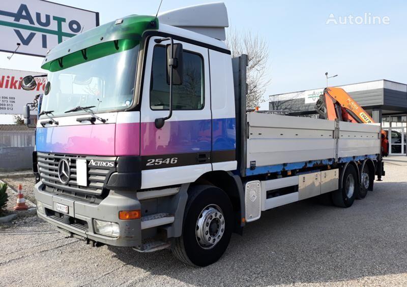 MERCEDES-BENZ Actros 2546+KRAN 16,90m camión caja abierta