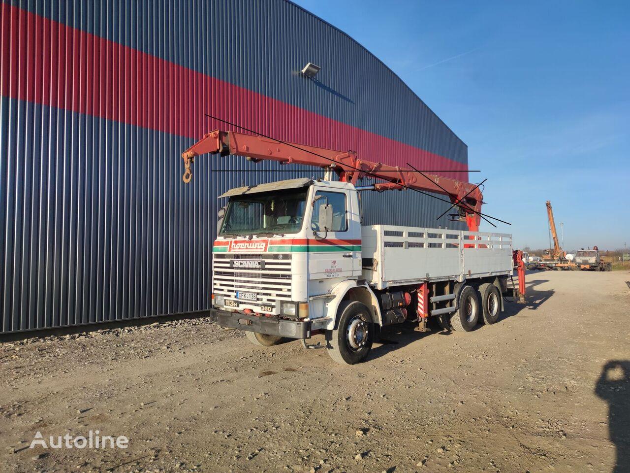 SCANIA 113 H 360, 6x4 platform (without crane) camión caja abierta