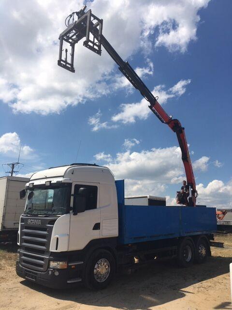 SCANIA R440  PALFINGER PK16000L  camión caja abierta