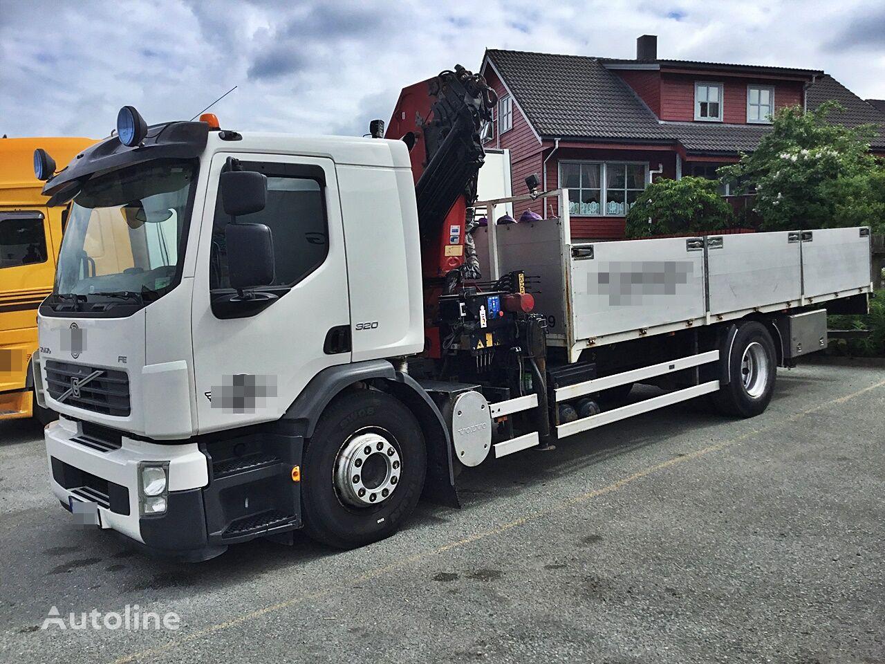 VOLVO FE-320 4x2 *Kran*HMF 1820*Manual*Euro 4 camión caja abierta