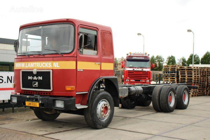 MAN 32.361 6X4 MANUAL FULL STEEL camión chasis