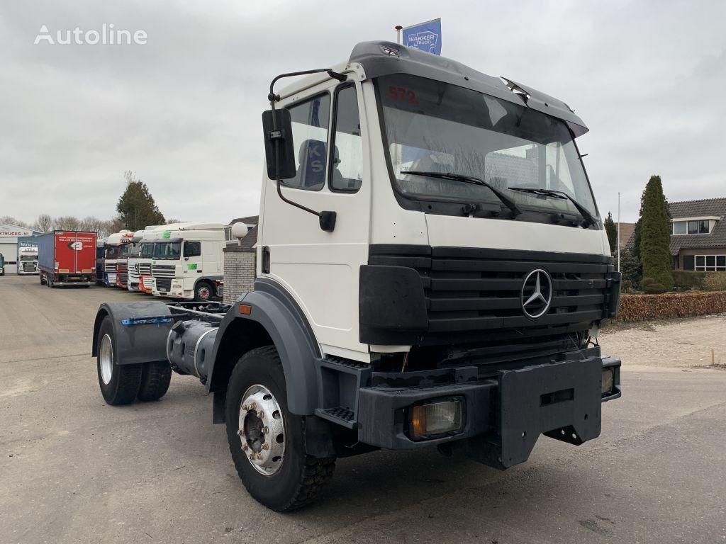 MERCEDES-BENZ SK 1824 MANUAL STEEL SUSPENSION BIG AXLE camión chasis