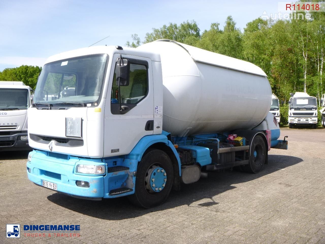 camión cisterna de gas RENAULT Premium 270.19 4x2 gas tank 19.7 m3