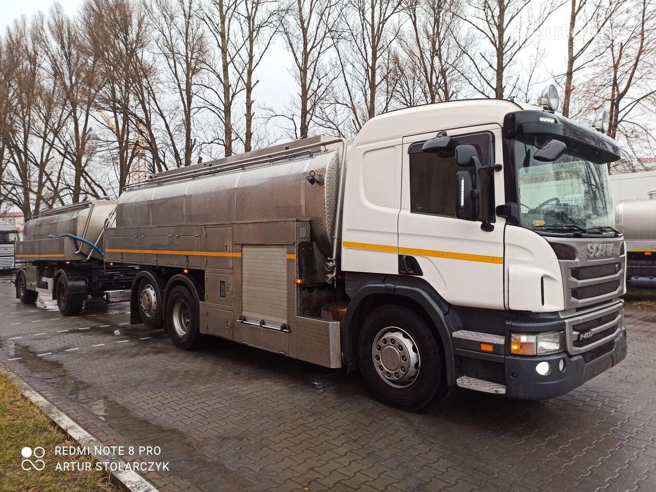 SCANIA P400 camión cisterna + remolque