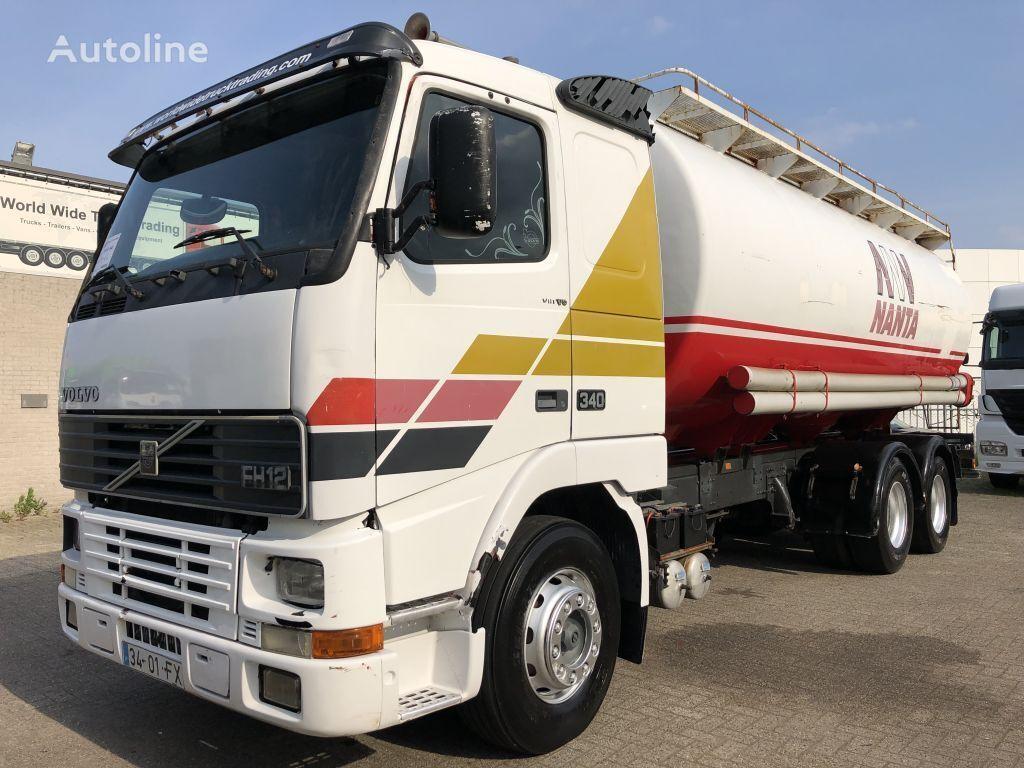 VOLVO FH12 340 + MANUAL + FULL BLATT/SPRING + 10 TIRES + 6X2 + EURO 1 camión cisterna