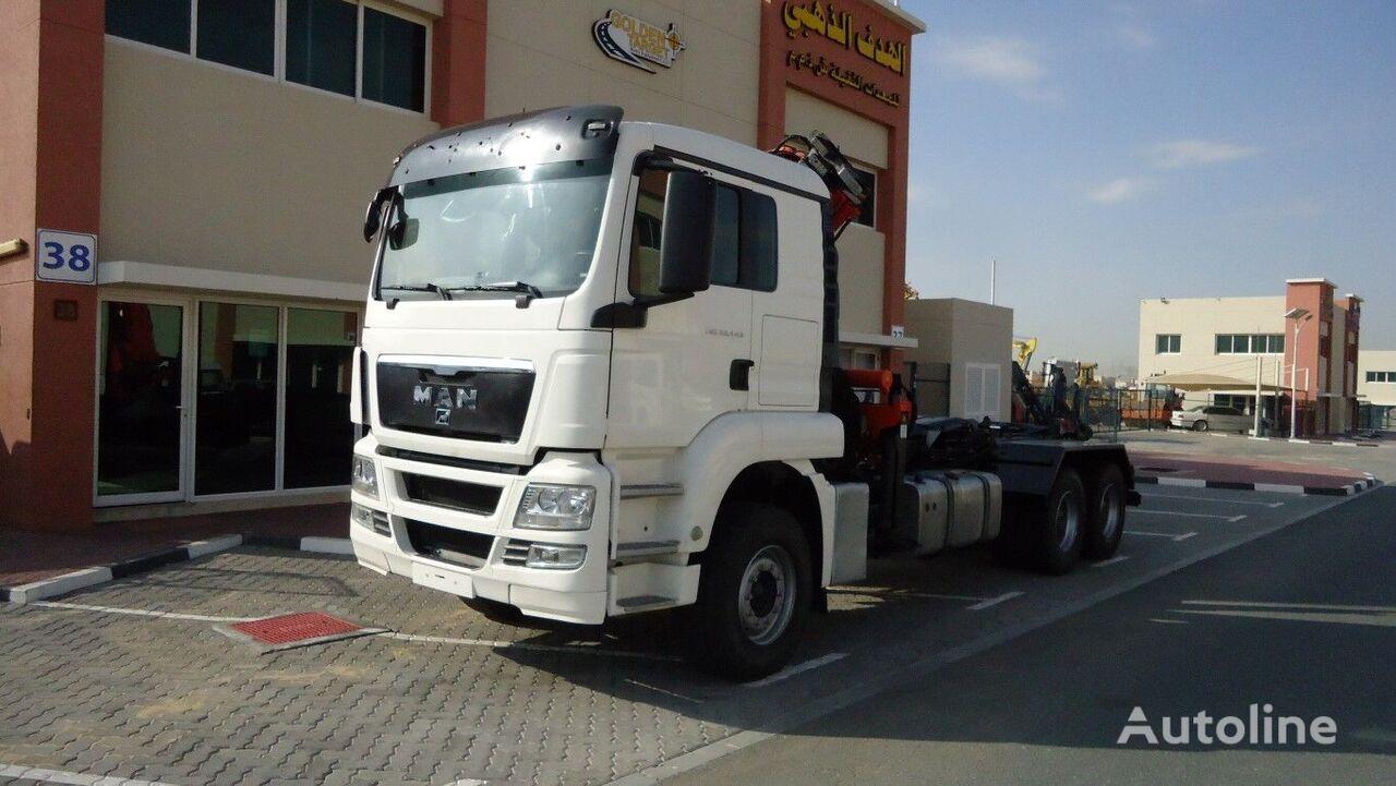 MAN TGS 26.440 6×4 Hook Loader + ATLAS 165 Crane 2011 camión con gancho