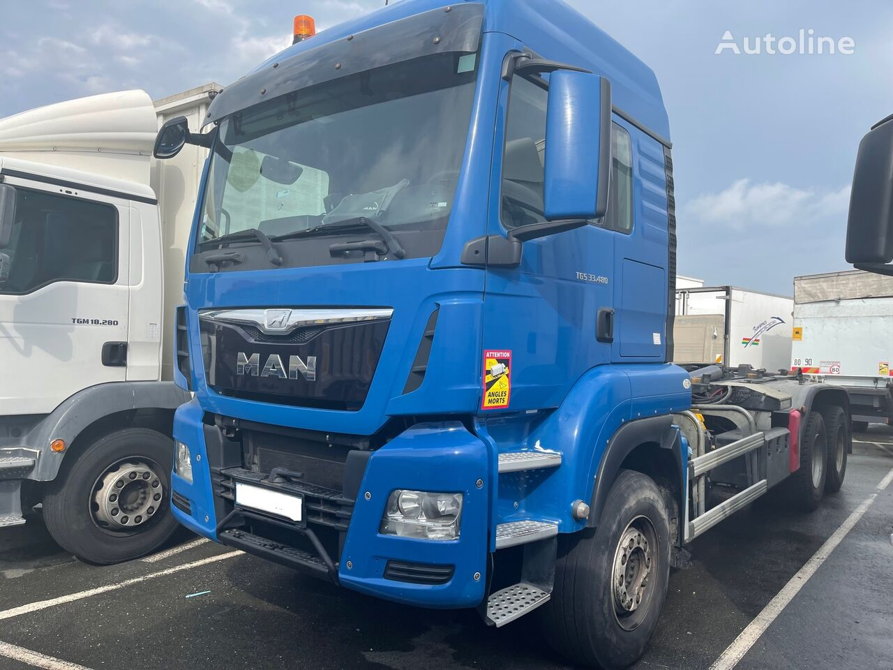 MAN TGS 33.480 EURO 6  MARREL 20T 6X4 camión con gancho