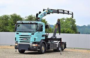 SCANIA R420 Abrollkipper 5,40m + HMF 1680 K4 + FUNK! camión con gancho