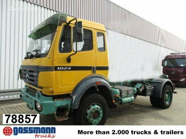 MERCEDES-BENZ SK 1824 AK Atlas Abroller 3-Seiten kippbar camión con gancho