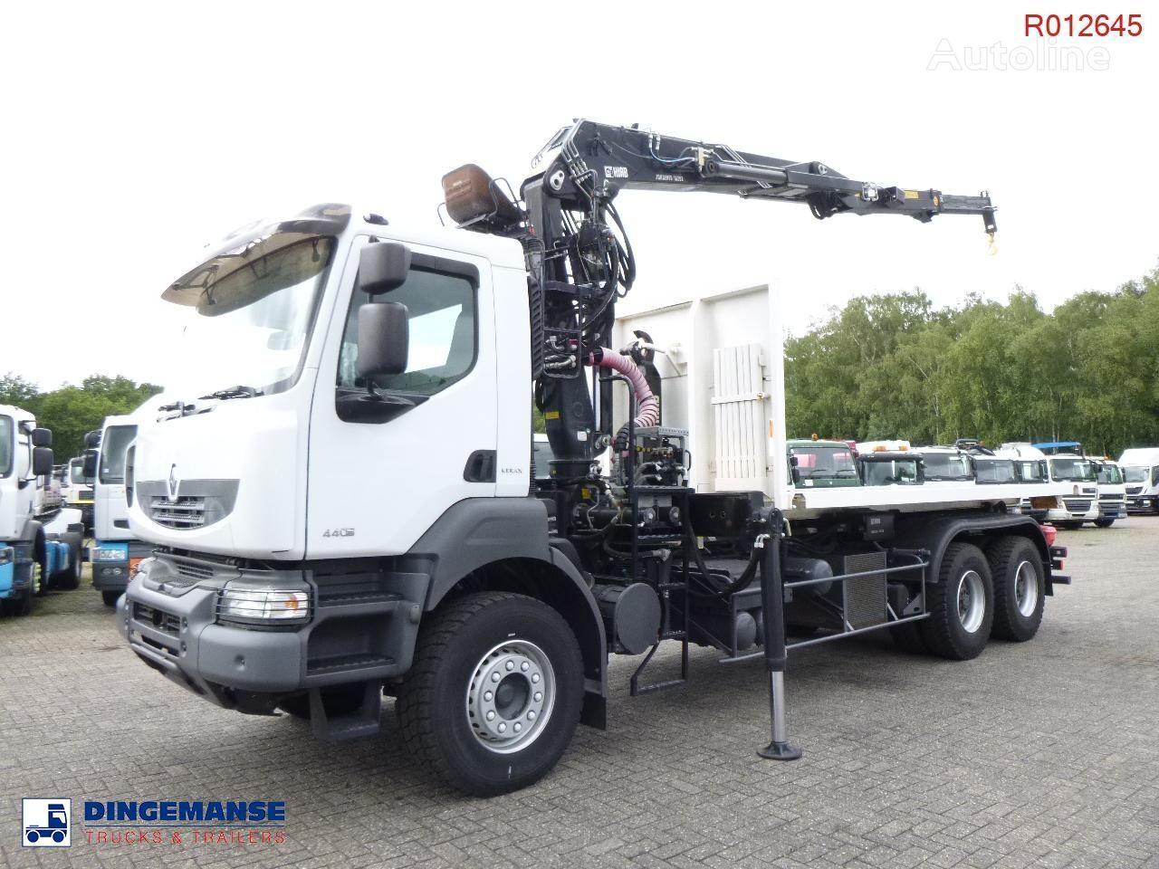 RENAULT Kerax 440 dxi 6x4 + Hiab 1620Z 80 + XR21S cont. hook camión con gancho