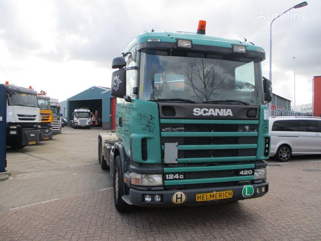 SCANIA 124 420 EURO 3 camión con gancho
