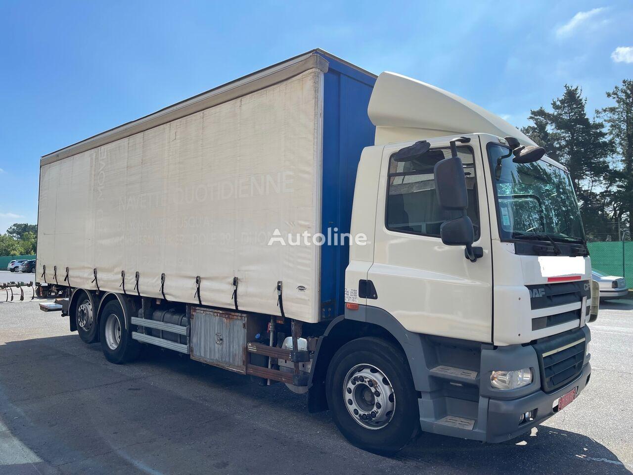 DAF CF 85 410 26T 6X2 TAULINER EURO 5 camión con lona corredera