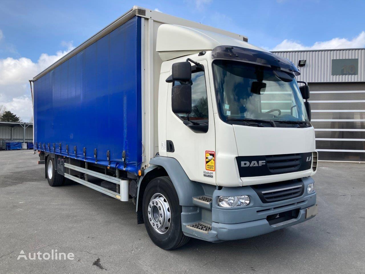DAF LF 55 250 EEV EURO 5. TAULINER 8m camión con lona corredera