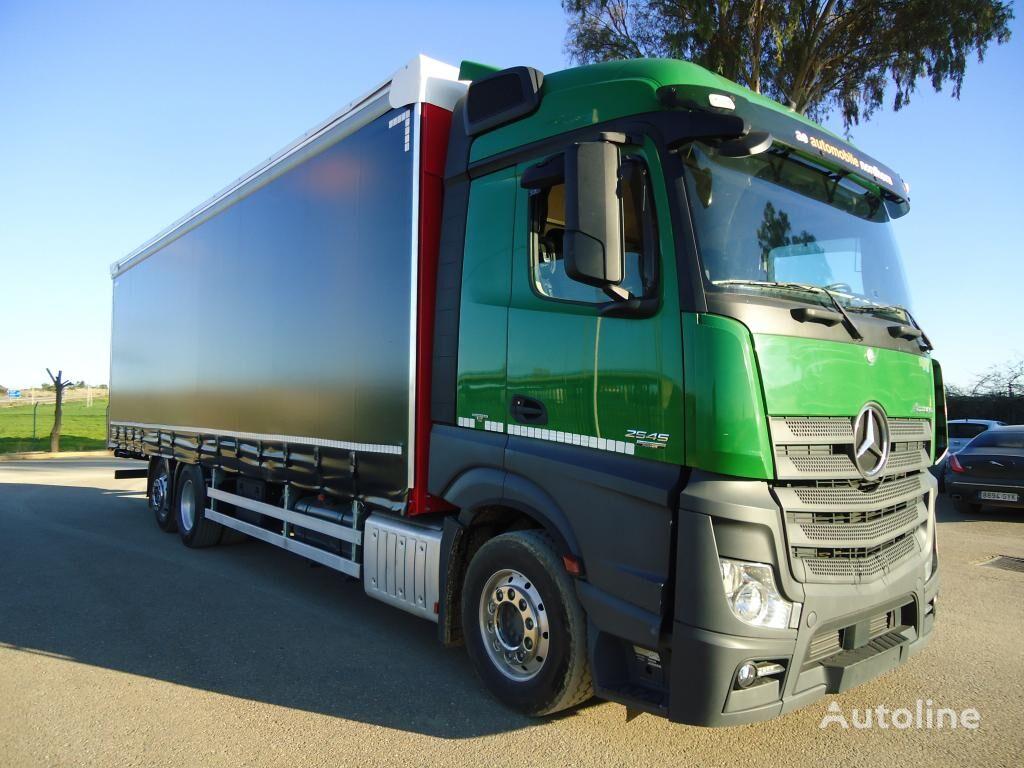 MERCEDES-BENZ ACTROS 25 45 camión con lona corredera